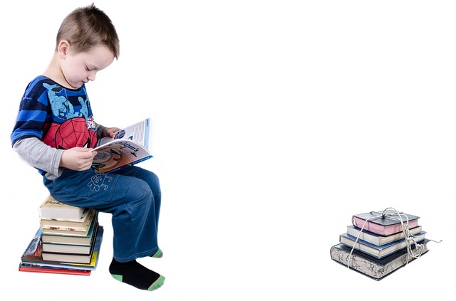 kluk na knihách