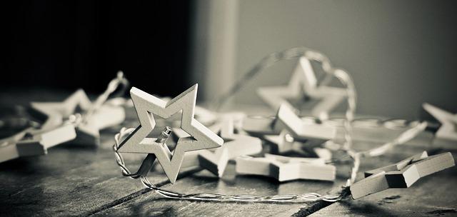 hvězdy vánoční osvětlení